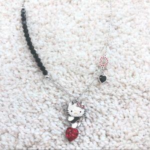 NWOT Swarovski Hello Kitty Devil Necklace